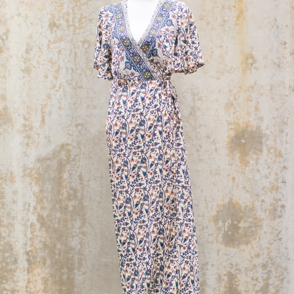 Aaka Dresses & Skirts - Long Floral Wrap Dress